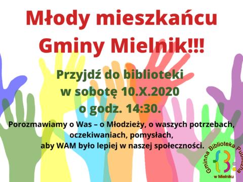 Młody mieszkańcu Gminy Mielnik